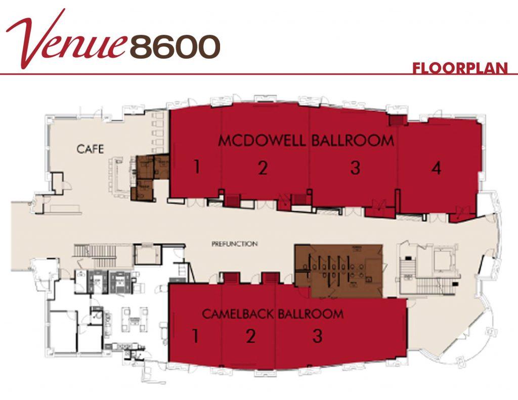 Venue 8600 Floorplan scottsdale az
